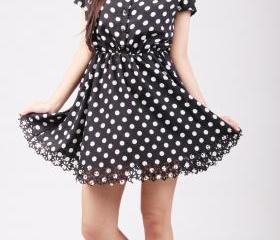 Althea Cut-out Polka Dots Dress